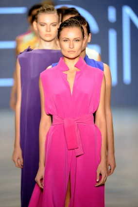 ISTANBUL, TURKEY - OCTOBER 15: Models walk the runway at the Ayse Deniz Yegin show during Mercedes Benz Fashion Week Istanbul SS15 at Antrepo 3 on October 15, 2014 in Istanbul, Turkey. (Photo by Timur Emek/Getty Images for IMG)