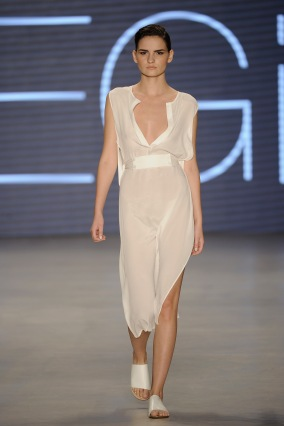 ISTANBUL, TURKEY - OCTOBER 15: A model walks the runway at the Ayse Deniz Yegin show during Mercedes Benz Fashion Week Istanbul SS15 at Antrepo 3 on October 15, 2014 in Istanbul, Turkey. (Photo by Timur Emek/Getty Images for IMG)