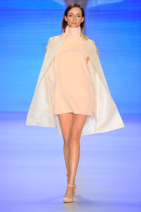 ISTANBUL, TURKEY - MARCH 15: A model walks the runway at the Ayse Deniz Yegin show during MBFWI presented by American Express Fall/Winter 2014 on March 15, 2014 in Istanbul, Turkey. (Photo by Gareth Cattermole/Getty Images for IMG)